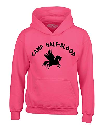 - Shop4Ever Camp Half Blood Hoodie Sweatshirts Small Heliconia Pink 0