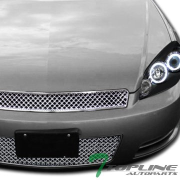 Chrome Rear Lower Cowl - Chrome Luxury Honeycomb Mesh Front Lower Bumper Grill Grille Chevy Impala
