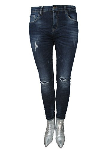 Jewelly by Lexxury Coupe Skinny Stretch Blogger Jeans Ripped Vintage Denim fonc