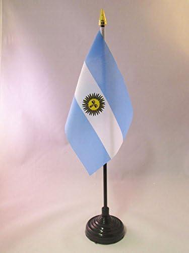 AZ FLAG Bandera de Mesa de Argentina 15x10cm - BANDERINA de ...