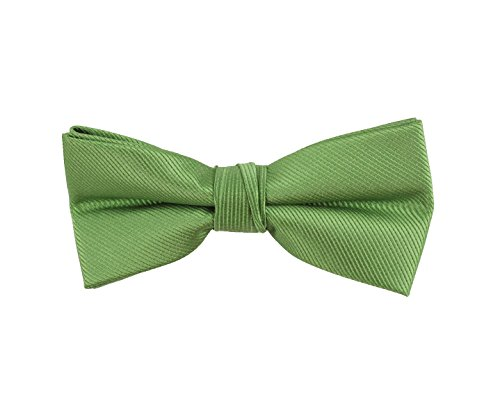 Born to Love - Boys Kids Pre Tied Adjustable Bowtie Christmas Holiday Party Dress Up (Medium, Green (M Dress Up Ideas)
