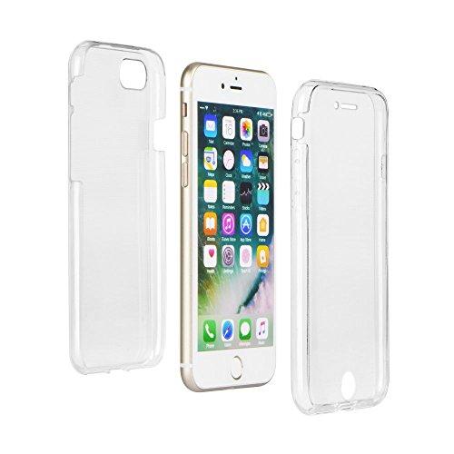 handy-point 360° Ultra Dünn 0,3mm Gummihülle Silikonhülle Gummi Silikon Schale Schutzschale Schutzhülle Handyschale Handyhülle Hülle für iPhone Modelle, Glasklar Durchsichtig Transparent (Für iPhone 6