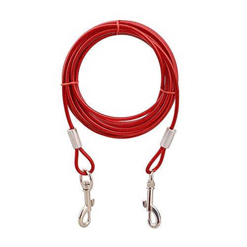 ASOCEA Pet Reflective Tie-Out Cable 16ft for Dogs up to 65 Pounds