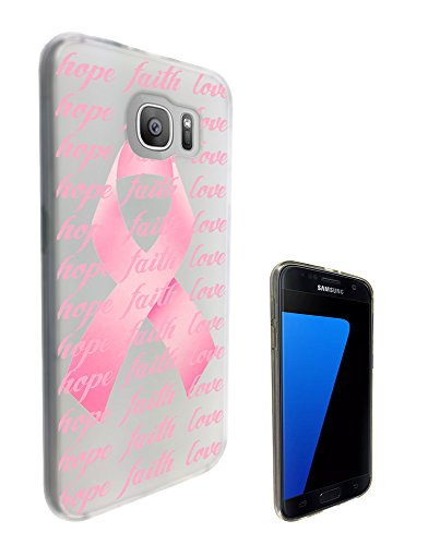 """c0989 - Beautiful Breast Cancer Pink Bow Hope Faith Love Design Samsung Galaxy S7 active 5.1""""-2016 Fashion Trend CASE Gel Rubber Silicone All Edges Protection Case Cover"""