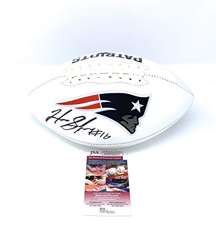 Josh Gordon New England Patriots Signed Autograph Embroidered Logo Football JSA Witnessed Certified