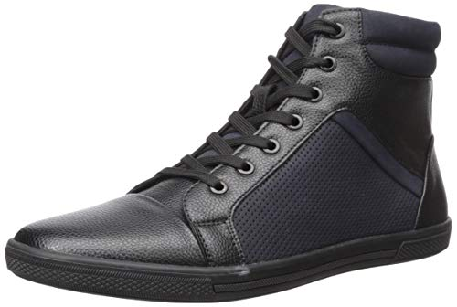 Unlisted by Kenneth Cole Men's Crown Worthy Sneaker, Black/Navy, 9.5 M US