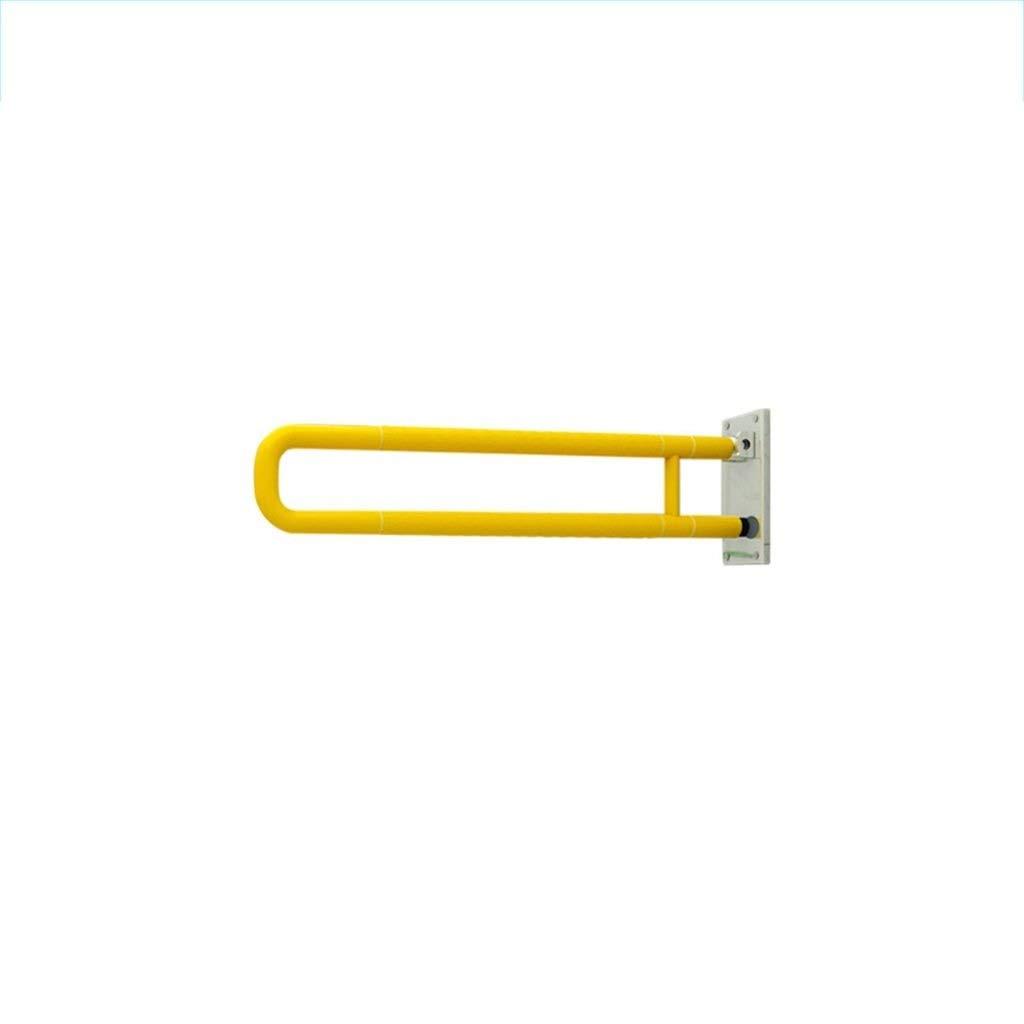 グレイブバー 浴室手すり、ステンレス滑り止め安全手すり(軽量タイプ)、身障者用トイレ付き高齢者妊婦(サイズ:60、70cm、白) 扱います (Color : Yellow) B07T6XT8CS Yellow