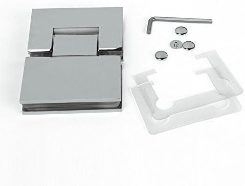 Nuevo sin marco Pivot para mampara de ducha de 180 grados cuadrado Bisagra Cromo polaco cromo sólido acero inoxidable: Amazon.es: Bricolaje y herramientas