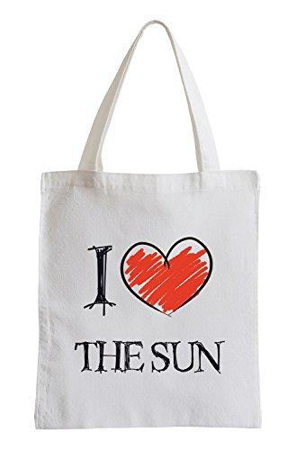 Amo il Sun Fun sacchetto di iuta
