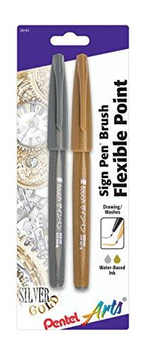 Pentel Arts Brush Silver SES15CBPXZ