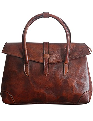 Retro Messenger Leather Bag Coffee Style Women 2 Shoulder Travel Style Youlee 1 Pants Brown Pants xwYSfTqE5E