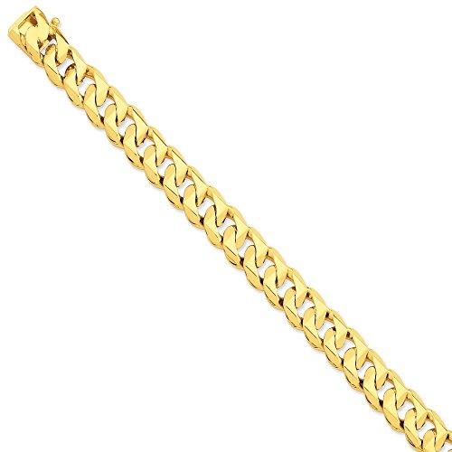 12 mm 14 carats main traditionnel Bracelet Chaîne 8 cm-JewelryWeb pince de homard