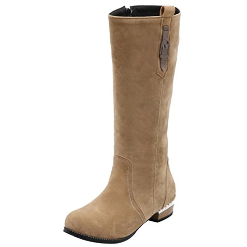 RAZAMAZA Women Boots Zipper apricot GoyNw0Bh