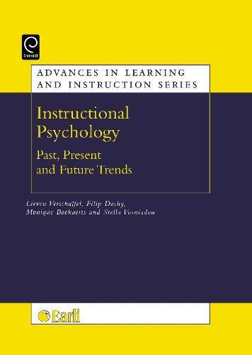 Instructional psychology: past, present, and future trends: Sixteen essays in honour of Erik de Corte (Advances in Learning and Instruction) (Advances in Learning And Instruction Series)