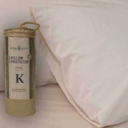 Pure Collection Organic Pillow Protector - King