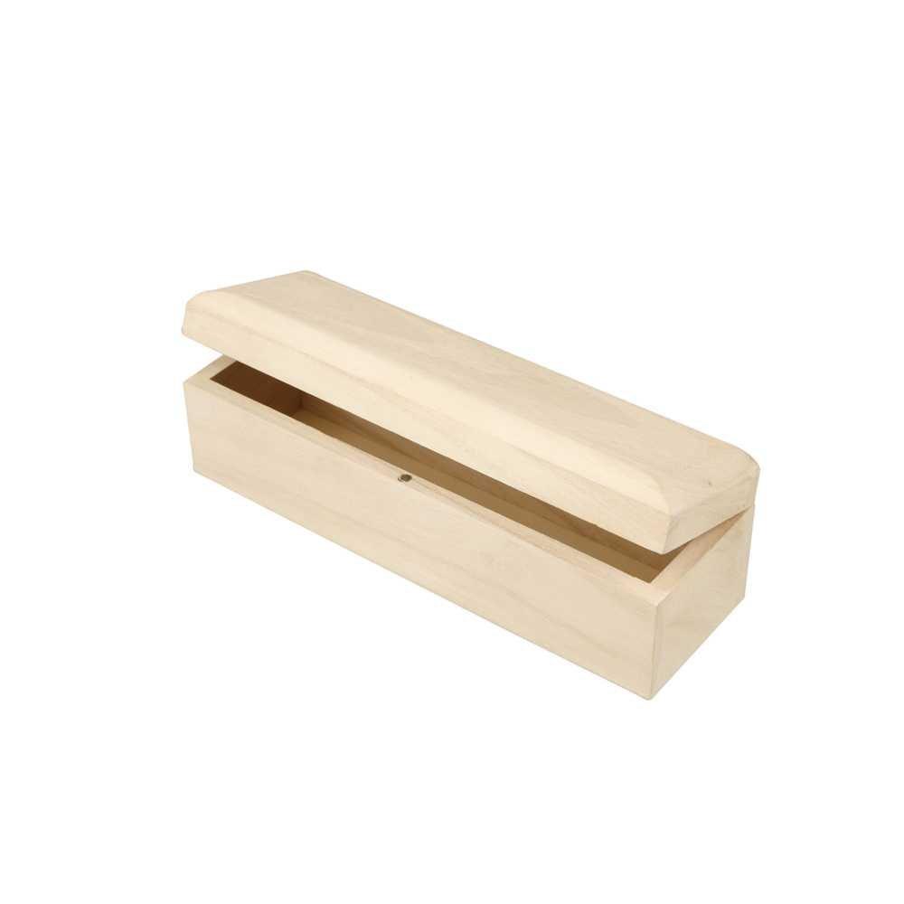 Creativ - Scatola lunga in legno con chiusura magnetica, coperchio integrato 577330