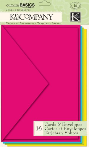 K&Company Multicolor Cards & Envelopes, Color Basics Radiant