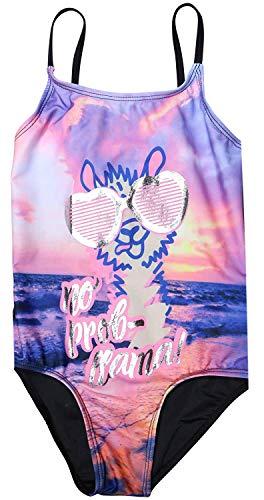 Choose Colored Foils - dELiA*s Girls' One-Piece Cute and Colorful Swimsuit, Size Llama Foil, Size 4'