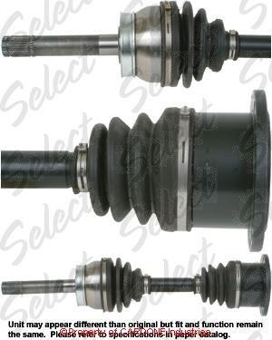 Drive Axle Cardone Select 66-6012 New CV Axle
