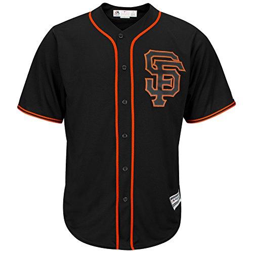 majestic San Francisco Giants Cool Base Black Alternate RC Tackle Twill Baseball Jersey (Small)