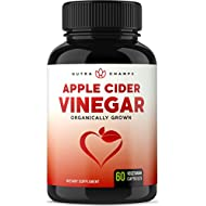 Organic Apple Cider Vinegar Capsules – 1000mg Natural Cider Supplement for Weight Loss, Detox & Digestion Support – Premium Cleanser 500mg Vegan Pills – Superior Absorption with Black Pepper