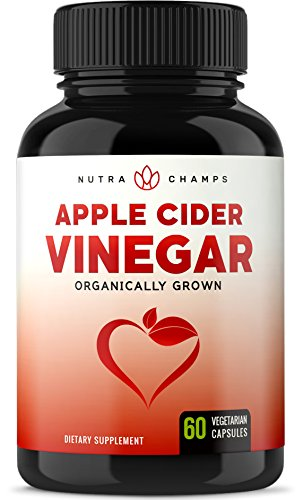 Organic Apple Cider Vinegar Capsules – 1000mg Natural Cider Supplement for Weight Loss, Detox & Digestion Support – Premium Cleanser 500mg Vegan Pills – Superior Absorption with Black Pepper by NutraChamps