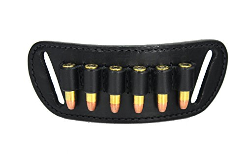 Daltech Force® Cartridge Loop Holder Belt Slide Holster - Made in USA (Black.38/.357 Caliber)