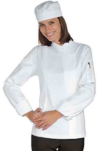 Femme Chef Blanc Snaps Blanc 100 Veste Isacco Coton w4T5qEnv