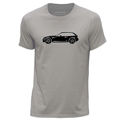 STUFF4 Uomo/X Piccolo (XS)/Grigio Chiaro/Girocollo T-Shirt/Stampino Auto Arte / Z3 M E36/8