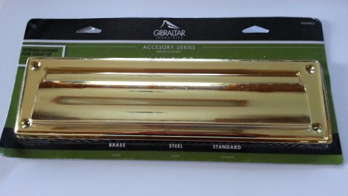 Steel Mail Slot in Brass Finish-Gibraltar Mailboxes-MS00BR03