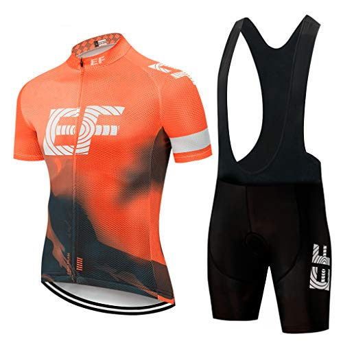 Pink Pro Team Short Sleeve Cycling Jersey Set Bike Breathable MTB Quick Dry Bike -