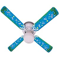 Ceiling Fan Designers Ceiling Fan, Kids Dragonflies and Fireflies, 42
