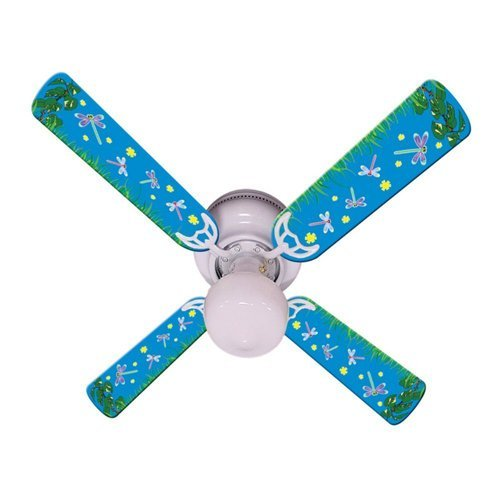 Ceiling Fan Designers Ceiling Fan, Kids Dragonflies and Fireflies, 42''