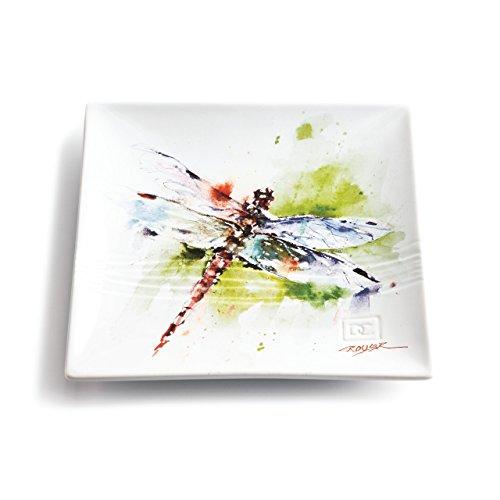 Demdaco 3005050311 Big Sky Carvers Dragonfly Snack Plate, Multicolored