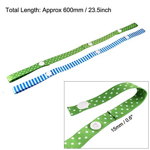 2 Pieces Adjustable Strap Holders 0.6 inches Wide 23.5 inches Long Blue Green for high Chair