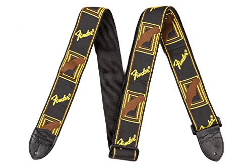 Fender Black/Yellow/Brown Monogrammed Strap