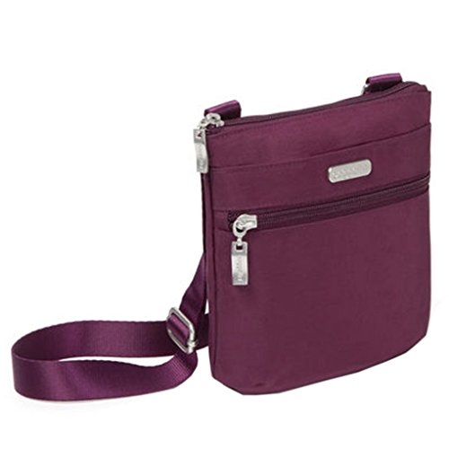 Small w Baggallini Bundle Travel Pocket Crossbody RFID Eggplant Earphones Phone HROFq