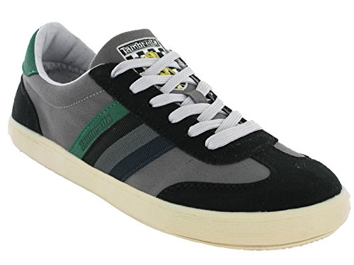 Lambretta MOD Trainers Canvas Mens 'Vulcan' Black / Green official cheap price purchase for sale wholesale online TFmKpyJo
