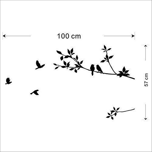Removable Wall Stickers Decals Bird Tree Branch Vinyl Quote Mural Home Decor
