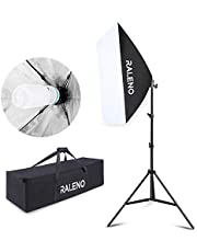 Softbox Photography Lighting Kit, 800W Studio Light 20″×28″E27 Socket 5500K Continuous Lighting Soft Box with Adjustable Lamp Stand for Portraits Video Shooting by RALENO