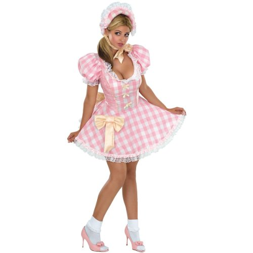 Secret Wishes Women's Bo Peep Sassy Adult Costume, Pink/White, -