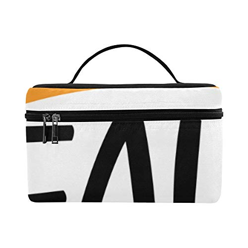 (Hello Autumn Fall Harvest Season Large Capacity Size Lady Cosmetic Bag Makeup Organizer Lunch Box Train Toiletry Case For Girls Teen Women Travel With Clear Zipper And Single)