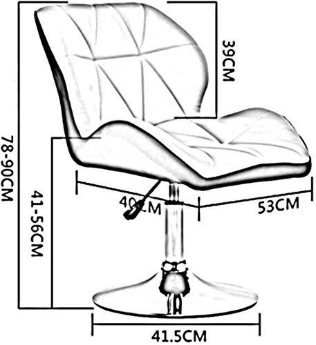 Skrivbordsstolar svängbar stol, datorstol hem lyft och roterande ryggstöd barstol restaurang bar fritid svängbar stol knästol