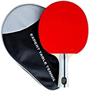Palio Expert 3.0 Table Tennis Racket & Case - ITTF Approved - Flared - Beginner Ping Pong, Bat, Pa