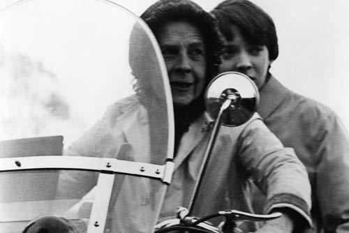 Bud Cort and Ruth Gordon in Harold and Maude ride police Moto Guzzi motorbike 11x17 Mini Poster