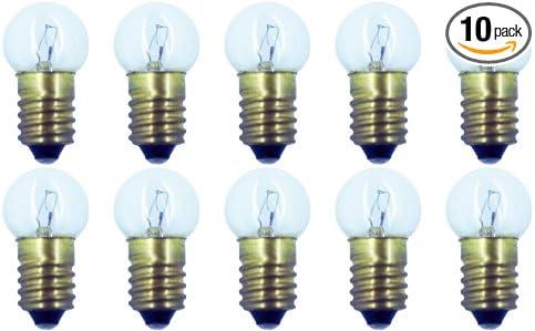 18 V E10 Base G-4.5 shape CEC Industries #432 Bulbs 4.5 W Box of 10