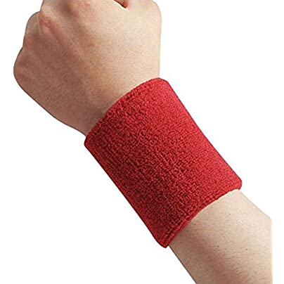 Aoile Sports wristband Cotton Sweatband Moisture Wicking Athletic Terry Cloth Wristband for Tennis Basketball Running Gym Working Out Estimated Price £3.10 -