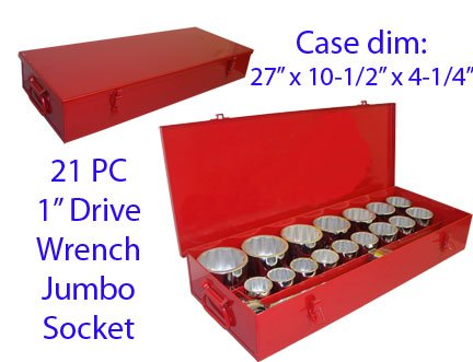 21 PC 1'' DR Drive Wrench JUMBO Socket 1-5/8'' to 3-1/8'' by Generic