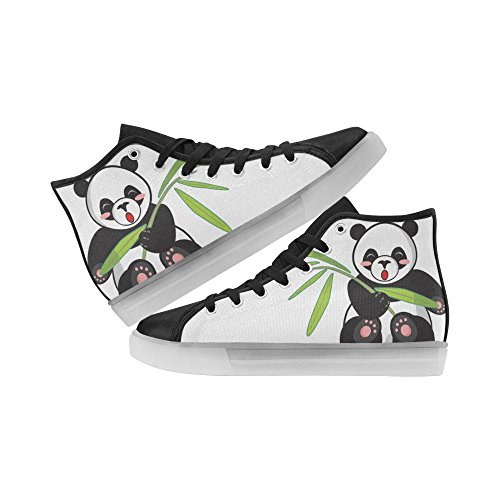 Rentprint Regenboog Oplichtende Dames Schoenen Knipperende Sneakers Panda
