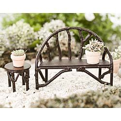 Outstanding Fairy Garden Wildewood Bench Ibusinesslaw Wood Chair Design Ideas Ibusinesslaworg